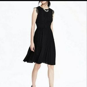 Banana Republic black dress with lace detailing
